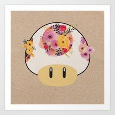 Mushroom in Bloom Art Print