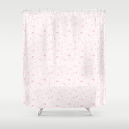Leaves in Rose Shower Curtain