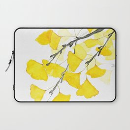 Golden Ginkgo Leaves Laptop Sleeve