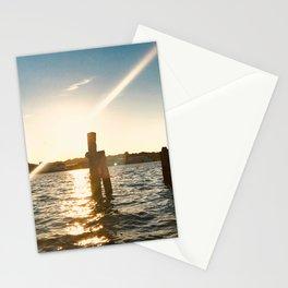 Sunset in Flensburg Harbour Stationery Cards