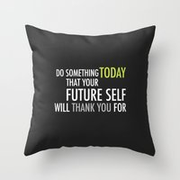 future Throw Pillows featuring Future by Christina Kouli | ilprogetto