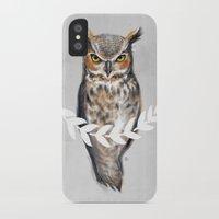 david fleck iPhone & iPod Cases featuring DAVID by Saga-Mariah
