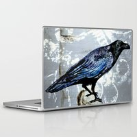 raven Laptop & iPad Skins featuring Raven by Dominique Gwerder