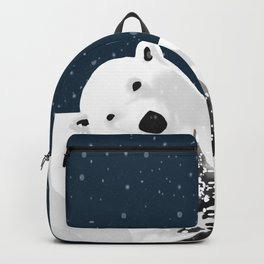 Unique Polar Bear Scene Backpack