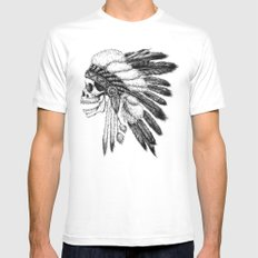 Native American White Mens Fitted Tee MEDIUM