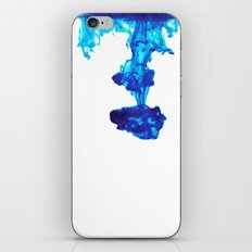 Ink Abstract - Blue iPhone Skin