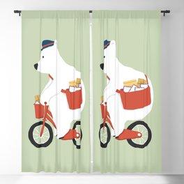 Polar bear postal express Blackout Curtain