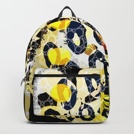 abstract Design in Gray Yellow Black Backpack