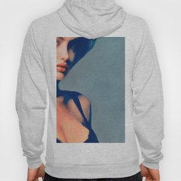 Portrait Of Young Woman With Large Eyes Hoody