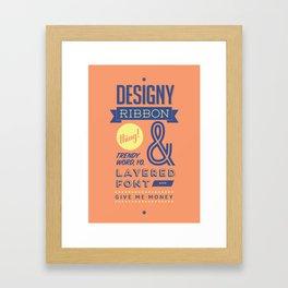 Designy Poster Framed Art Print