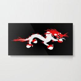 Dragon-A variation on the flag of Bhutan. Metal Print