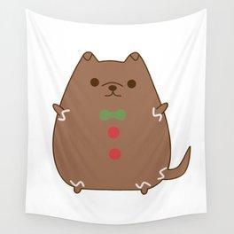Cute Christmas Gingerbread Pupsheen Wall Tapestry