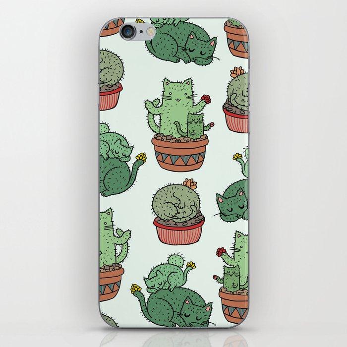 Cacti Cat pattern iPhone Skin