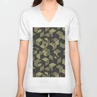 marble V-neck T-shirts featuring Marble by Molly Smisko