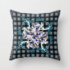 Oriental Flower Throw Pillow