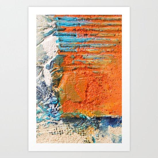 OPUS VARIAE I - Abstract mixed-media painting Art Print