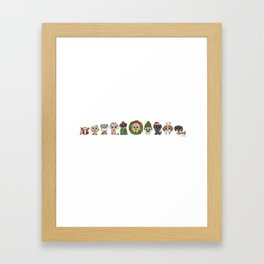 Christmas Puppies Framed Art Print