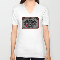 ouija V-neck T-shirts featuring Ouija Board by CarloJ1956