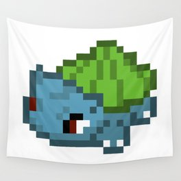 Bulbasur pixel Wall Tapestry