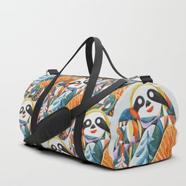 Nordic Sloth Watercolor Duffle Bag