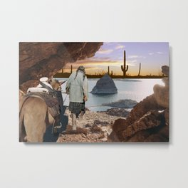 Desert Emergence collage Metal Print