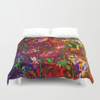 tim burton Duvet Covers featuring Substances by Tim Henderson by WhatisArt