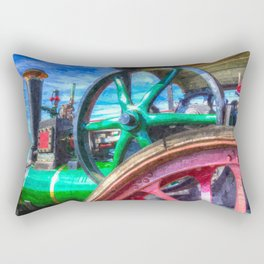 Clayton and Shuttleworth Traction Engine Art Rectangular Pillow
