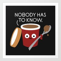 yetiland Art Prints featuring Cold Comfort by David Olenick