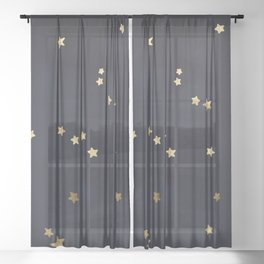 Gold Stars Sheer Curtain