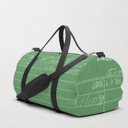 Library Card 797 Negative Green Duffle Bag
