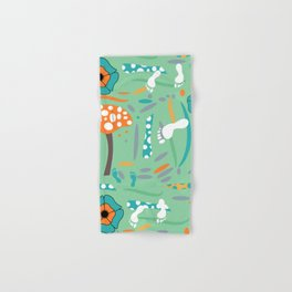 Playful mushroom and flowers Hand & Bath Towel