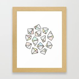 Polygonal stones and gemstones Framed Art Print
