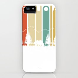 sequoia national park retro outdoor camping california kern river pullover tee iPhone Case