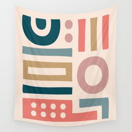 Mid Century Modern Abstract Composition 115 Wall Tapestry