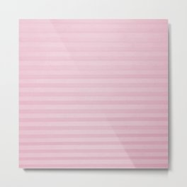 Vintage chic pink geometrical stripes pattern Metal Print