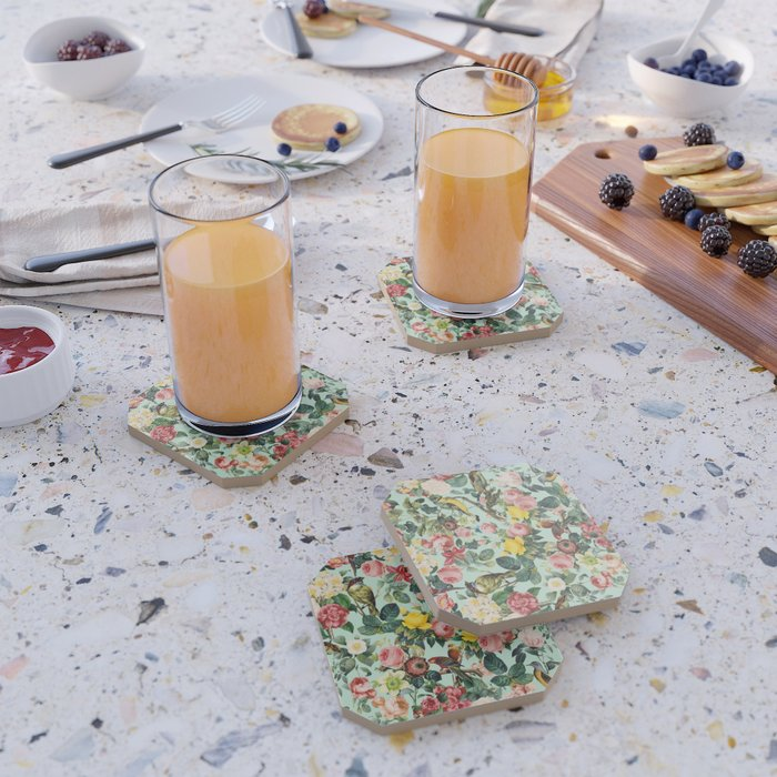Floral and Birds III Coaster