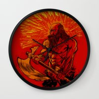 viking Wall Clocks featuring Viking  by David Miley