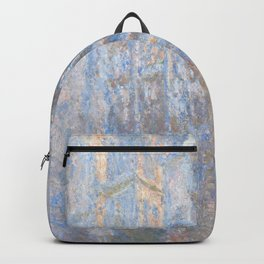 Rouen Cathedral, West Façade by Claude Monet Backpack