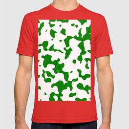 Large Spots - White and Green T-shirt