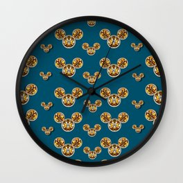Cartoon animals in gold and silver gift decorations Wall Clock