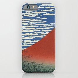 Hokusai Katsushika - Red Fuji Southern Wind Clear Morning iPhone Case