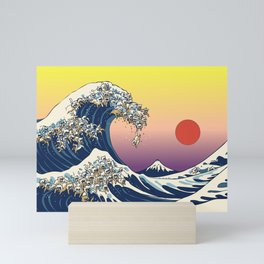 The Great Wave Of  Cat Mini Art Print