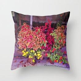 KINGSPORT TN - SHOPFRONT FLOWERS Throw Pillow
