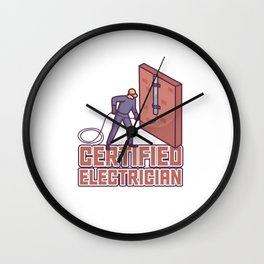Electrician electric proud skilles - birthday gift Wall Clock