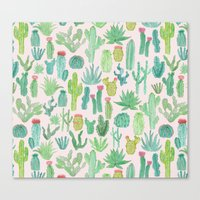cactus Canvas Prints featuring Cactus by Abby Galloway