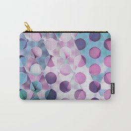 Circles on Triangles Lavenders Blues Carry-All Pouch