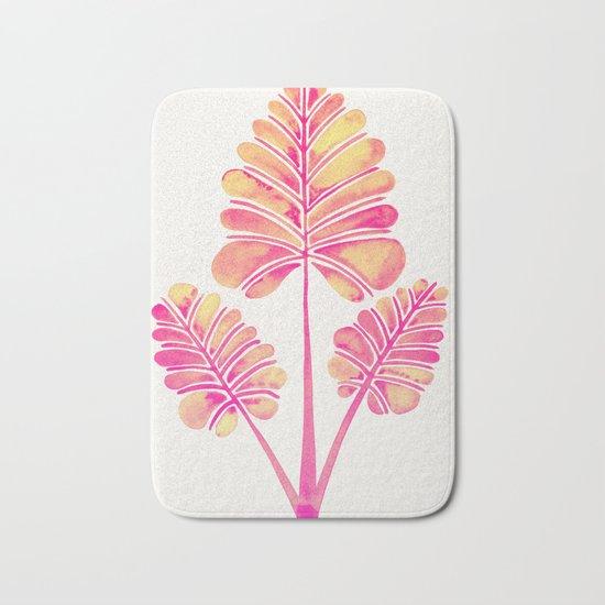 Tropical Palm Leaf Trifecta – Pink Palette Bath Mat