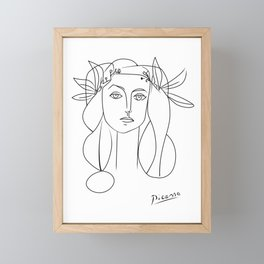 Picasso lady  Modern Sketch Picasso Art Modern Minimalist Framed Mini Art Print