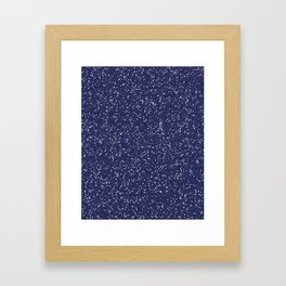 Blue Glitter I Framed Art Print