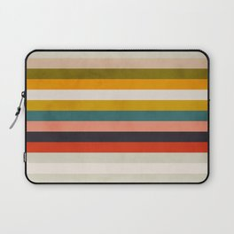 modern abstract stripe geometric Laptop Sleeve